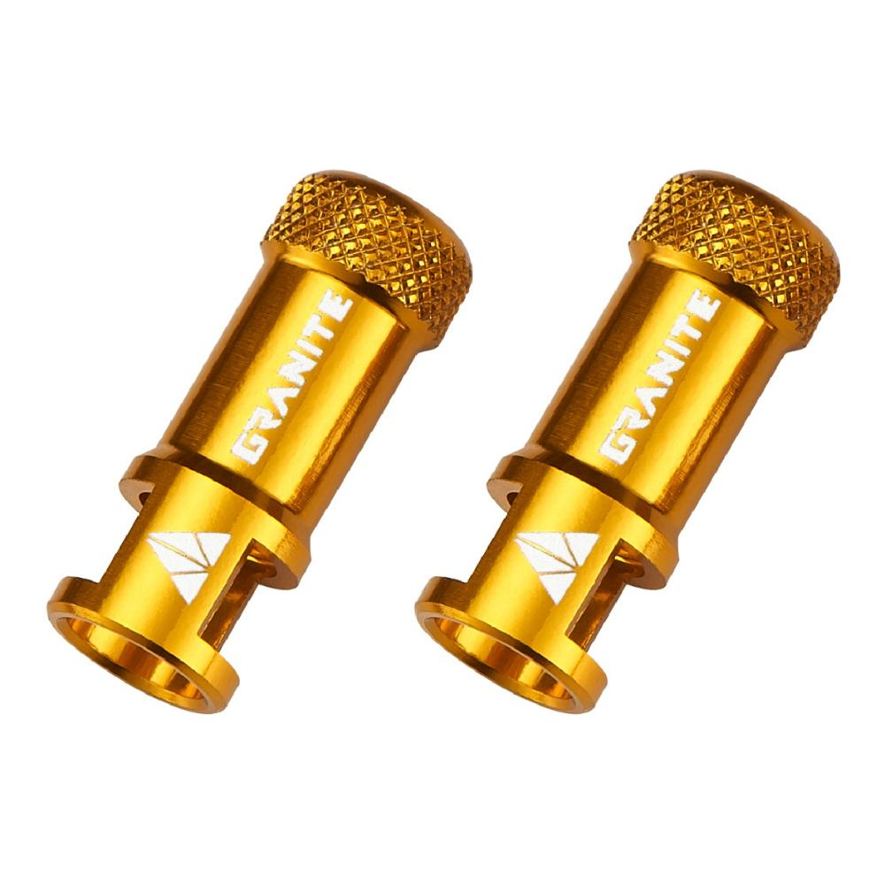 Juicy Nipple Valve Cap with Valve Tool - Gold