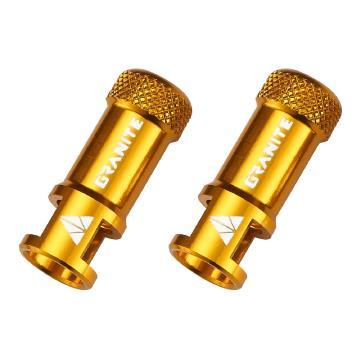 Granite Design Juicy Nipple Valve Cap with Valve Tool - Gold
