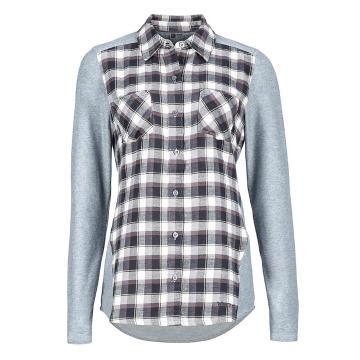 Marmot Women's Lani Flannel Long Sleeve Button Up Shirt - Dark Steel