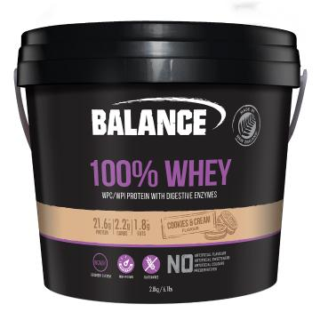 Balance 100% Natural Whey 2.8kg - Cookies and Cream