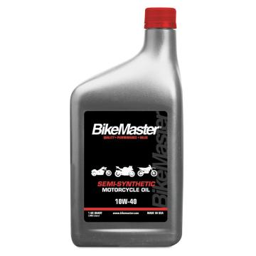 BikeMaster Semi-Synthetic Mortorcycle Oil 10W-40 - 1 Quart