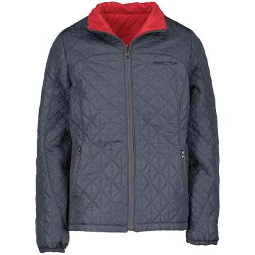 Arctix Girl's Hanna Reversible Quilted Jacket - Steel/Red