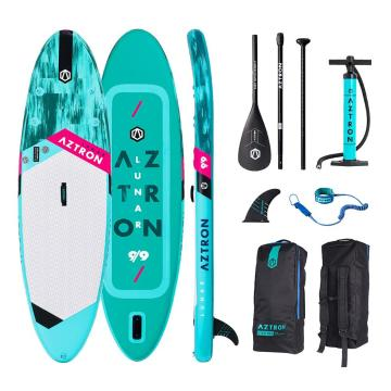 "Aztron Lunar 9 .9"""" Inflatable Paddle Board Package"