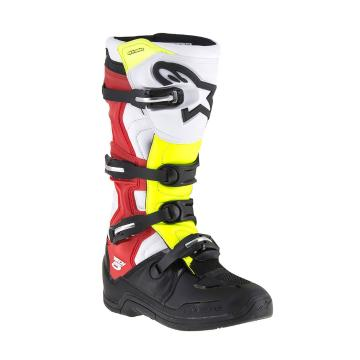 Alpinestars Men's Tech-5 MX Boots - Black/White/Red/Yellow