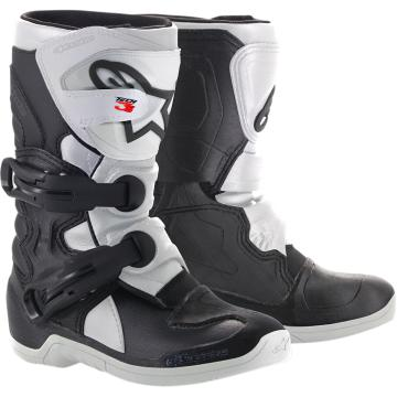 Alpinestars Kids Tech-3S MX Boots - Black/White - Black/White