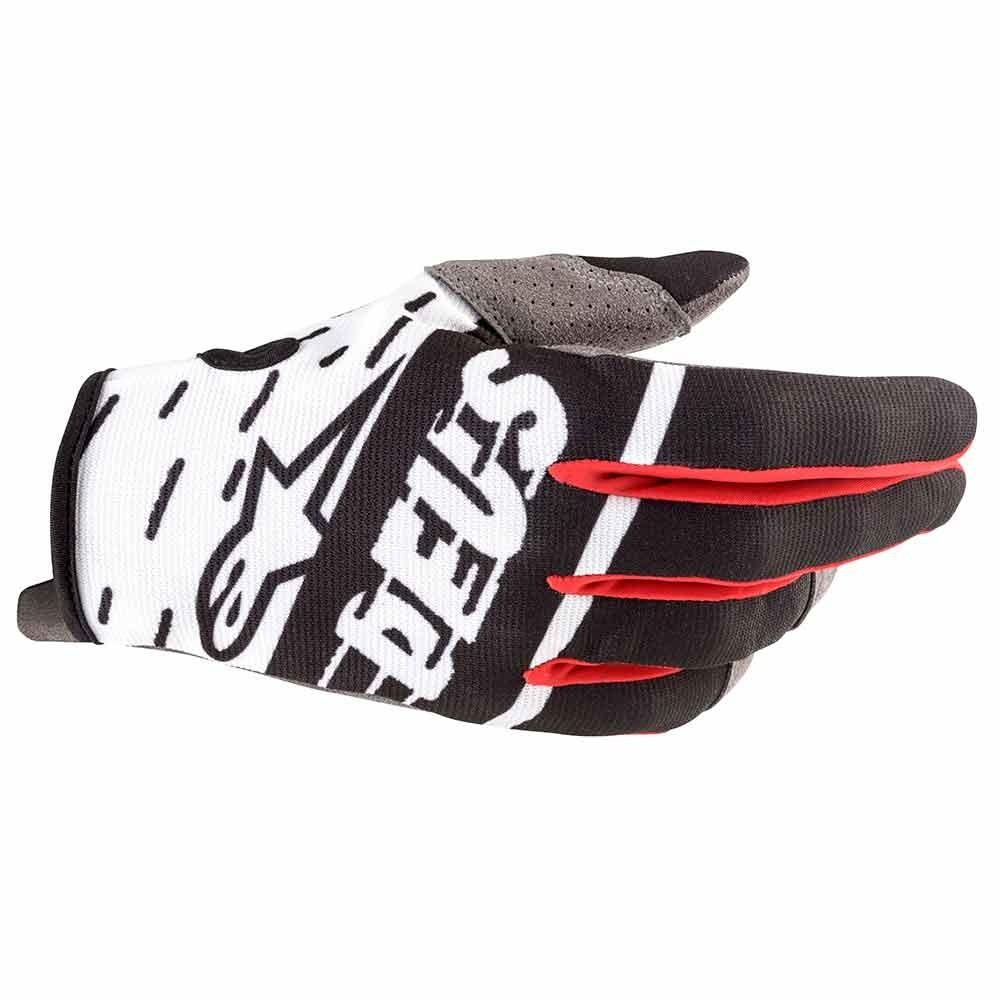 Radar Gloves X Deus - Black/White/Deep Red
