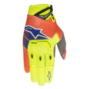 Alpinestars Techstar Gloves - Yellow/Orange/Blue