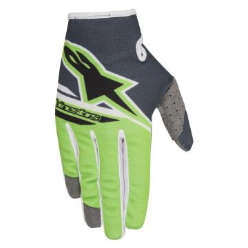 Alpinestars 2018 Radar Flight Gloves - Anthracite/Green Fluoro