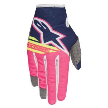 Alpinestars Radar Flight Gloves - Dark Blue/Pink Fluoro/White