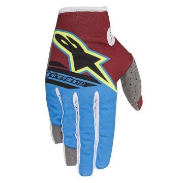 Alpinestars Radar Flight Gloves - Rio Red/Aqua/Yellow