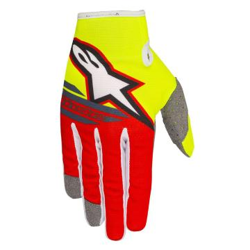 Alpinestars 2018 Radar Flight Gloves - Yellow Fluoro/Red/Anthracite