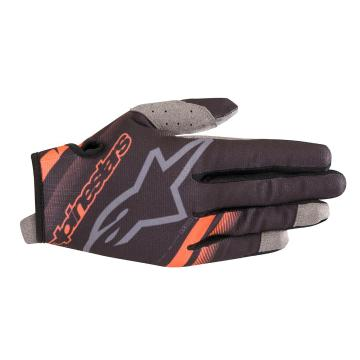 Alpinestars Radar Gloves - Black/Orange Fluoro