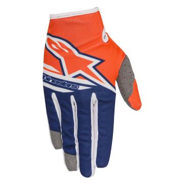 Alpinestars Youth Radar Flight Gloves - Orange Fluoro/Dark Blue/White