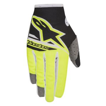 Alpinestars Youth Radar Flight Gloves - Black/Yellow Fluoro