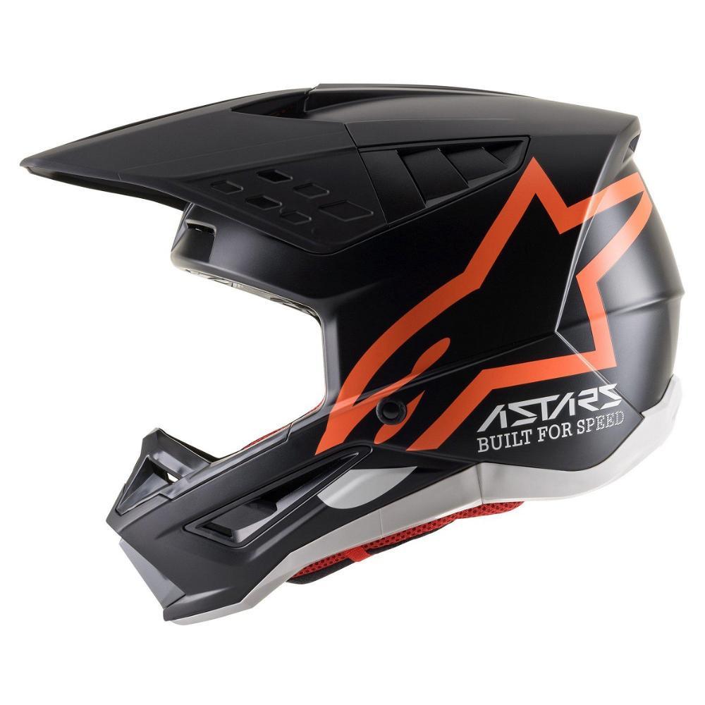 S-M5 Compass Helmet - Black/Orange Fluoro