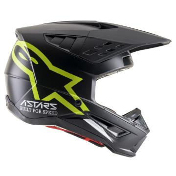 Alpinestars S-M5 Compass Helmet - Black/Fluro Yellow