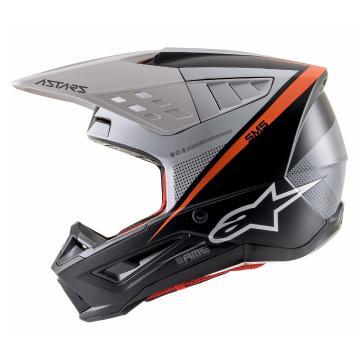 Alpinestars S-M5 Rayon Helmet - Black/White/Orange Fluro