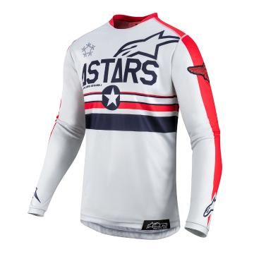 Alpinestars RacerTech Jersey LE FiveStar - Cool Gray/Bright Red