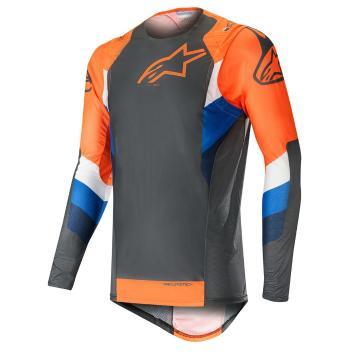 Alpinestars Supertech Jersey - Anthracite/Orange Fluro
