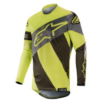 Alpinestars Racer Tech Atomic Jersey - Black/Yellow Fluoro/Grey