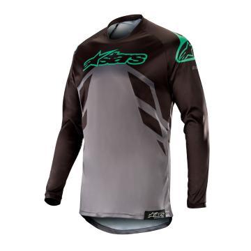 Alpinestars Racer Tech Compas Jersey - Black/Mid Grey/Teal