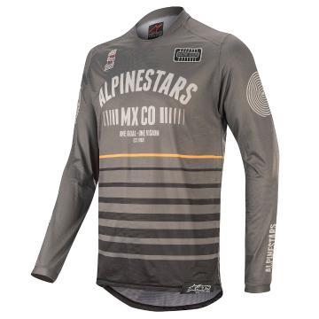 Alpinestars Racer Tech Flagship Jersey - Dark Gray/Black/Orange
