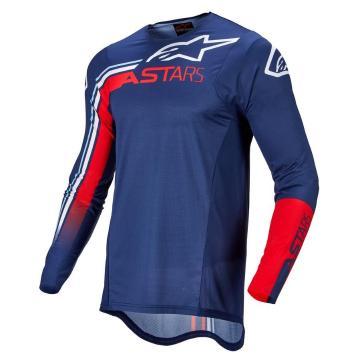 Alpinestars Supertech Blaze Jersey - Dark Blue/Bright Red/White
