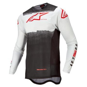 Alpinestars Supertech Foster Jersey  - White/Black/Red Fluro