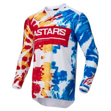 Alpinestars Racer Squad Jersey - White/Red/Yellow/Turquoise