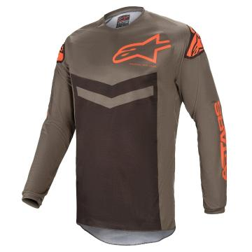 Alpinestars Fluid Speed Jersey - Dark Gray/Orange - Dark Gray/Orange