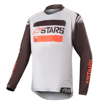 Alpinestars 19 Youth Racer Tactical Jersey - Black/Grey/Red Fluoro