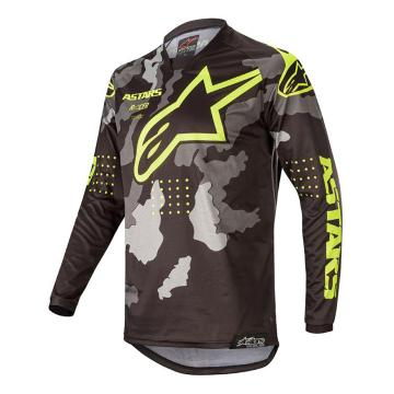 Alpinestars MX20 Youth Racer Tactical Jersey - Black/Gray Camo/Fluro Yellow