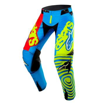 Alpinestars Limited Edition Union Techstar Venom Pants - Aqua/Yellow Fluoro/Red