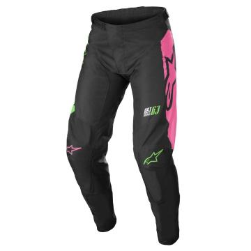 Alpinestars Racer Compass Pants - Black/Green Neon/Pink Fluro