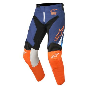 Alpinestars 2018 Racer Supermatic Pants - Dark Blue/Orange Fluoro/Aqua