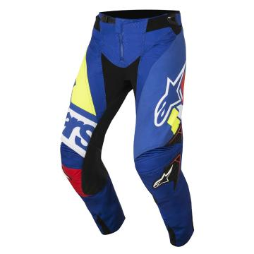 Alpinestars 2018 Techstar Factory Pants - Blue/White/Red/Yellow Fluoro