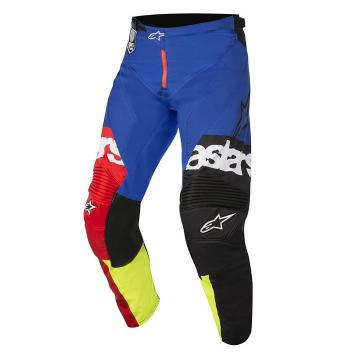 Alpinestars 2018 Racer Flagship Pants - Red/Yellow Fluoro/Blue