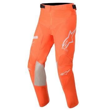 Alpinestars Youth Racer Tech Pants - Orange Fluro/White/Blue
