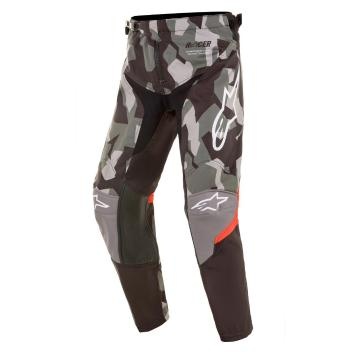 Alpinestars Youth Racer Pants - Magneto Black/Red Fluro/Green Camo - MagnetoBlack/RedFluro/GreenCam