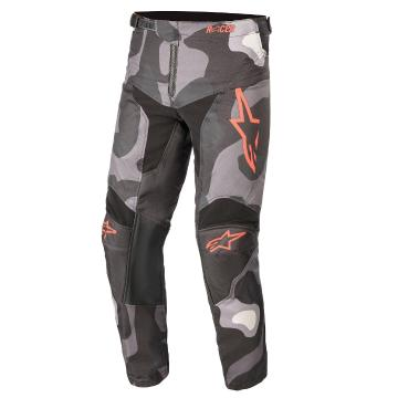 Alpinestars Youth Racer Tactical Pants - Gray/Camo/Red Fluro