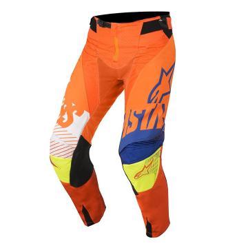 Alpinestars 2018 Youth Racer Screamer Pants - Orange Flu/Blue/White/Ylw Flu