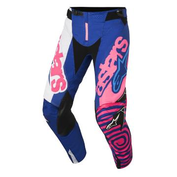 Alpinestars Youth Racer Venom Pants - Blue/Pink Flu/White