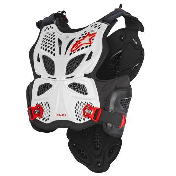 Alpinestars Men's A-10 Chest Protector - White/Black/Red