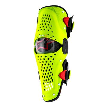 Alpinestars Limited Edition BlackJack SX-1 Knee Guards - Yellow Fluo/Red