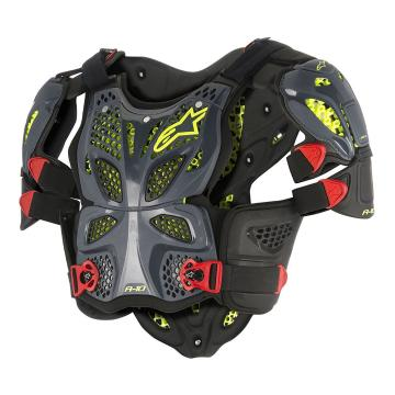 Alpinestars A-10 Full Chest Protector - Anthracite/Black/Red
