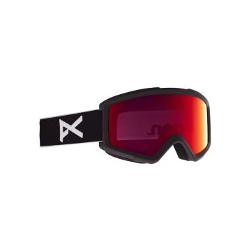 Anon 2021 Men's Helix 2 Goggles PERCEIVE With Spare Lens - Black/Prcv Sun Red