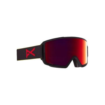 Anon 2021 Men's M3 Goggles with Spare Lens and MFI Face Mask - Blkpop/Prcv Sun Red