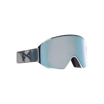 Anon 2021 Men's M4 Goggles CYLINDRICAL with Spare Lens and MFI Facemask - Twlms/Prcv Vrbl Blue