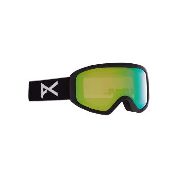 Anon 2021 Women's Insight Goggles PERCEIVE with Spare Lens - Black/Prcv Vrbl Grn