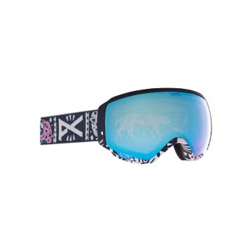 Anon 2021 Women's WM1 Goggles with Spare Lens and MFI Facemask - Noom/Prcv Vrbl Blue